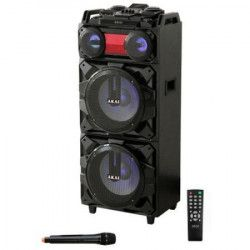 Boxa portabila Akai 90W Bluetooth Karaoke Radio Cadou Casti in-ear tip Earpods