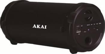 Boxa portabila Bluetooth AKAI ABTS-12C USB microSD 5W Radio FM karaoke Negru