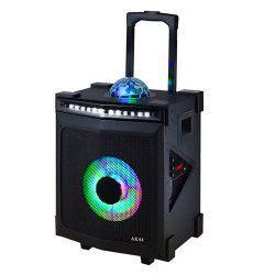 Boxa portabila AKAI Discoball RGB Radio FM Conectivitate Bluettoth / USB / AUX 20 Hz - 20 kHz PMPO 4000W Karaoke Negru