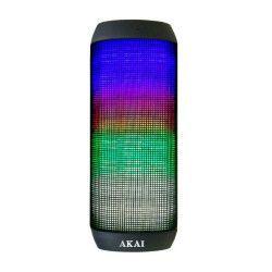 Boxa Profesionala portabila AKAI Iluminare Multicolora LED Conectivitate Bluetooth AUX IN Baterie Lithium 1000 mAh Banda de