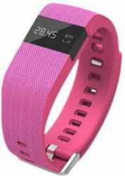 Bratara fitness TechONE TW64 BT 4.0 rezistenta la apa ip66 Android iOS notificari OLED stand by 15 zile roz Bratari Fitness