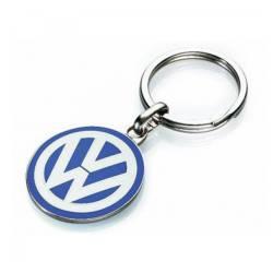 Breloc chei original Volkswagen Logo 3D Crom si email colorat Cadouri