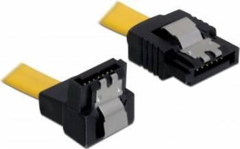 Cablu Delock SATA3 drept- jos unghi 20cm Cabluri Componente