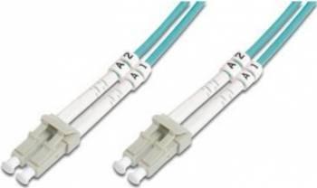 Cablu Fibra Optica Multimodal Digitus LC-LC Duplex OM3 3m Cabluri Retea