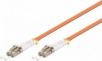 Cablu Fibra Optica Multimodal Equip LC-LC Duplex 50125 OM3 0.5m Portocaliu Cabluri Retea