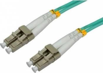 Cablu Fibra Optica Multimodal Intellinet LC-LC Duplex 50125 OM3 1m Verde Cabluri Retea