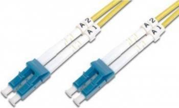 Cablu Fibra Optica Unimodal Digitus LC-LC Duplex SM 9125 1m Cabluri Retea