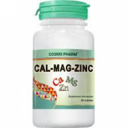 Calciu + Magneziu + Zinc Cosmo Pharm 30cps