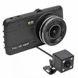 Camera auto dubla DVR FULL HD LCD 4 inch acumulator 1000 mA 1224 V