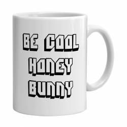 Cana alba ceramica capacitate 300 ml model Be Cool Honey Bunny Cadouri