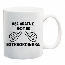 Cana personalizata ceramica 300 ml Asa Arata o Sotie Extraordinara Cadouri