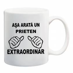 Cana personalizata ceramica 300 ml Asa Arata un Prieten Extraordinar Cadouri
