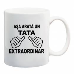 Cana personalizata ceramica 300 ml Asa Arata un Tata Extraordinar Cadouri
