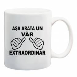 Cana personalizata ceramica 300 ml Asa Arata un Var Extraordinar Cadouri