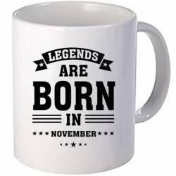 Cana personalizata ceramica 300 ml Legends are born in November Cadouri