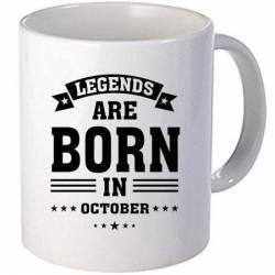Cana personalizata ceramica 300 ml Legends are born in October Cadouri