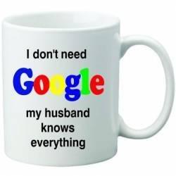 Cana personalizata ceramica 300 ml My husband knows everything Cadouri