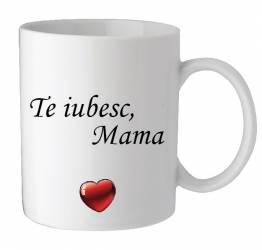 Cana personalizata te iubesc mama cu o poza si mesaj Cadouri