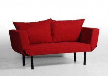 Canapea Extensibila Seul Rosu 2 Locuri 160 110 x 60 x 90 cm
