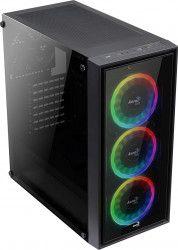Carcasa Aerocool ATX Quartz Revo Mid Tower USB 3.0 Fara sursa Negru Carcase