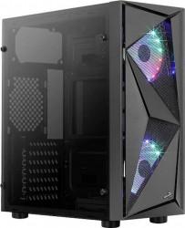 Carcasa Aerocool Glider Cosmo iluminare RGB Neagra Carcase
