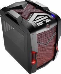 Carcasa AeroCool Strike-X Cube Windowed fara sursa Neagra-Rosie Carcase