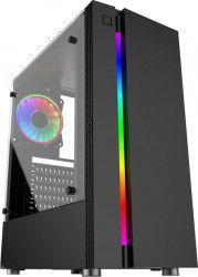 Carcasa Floston HERO RGB STRIP TG Tempered Glass Neagra Resigilat