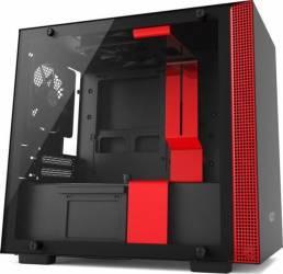 Carcasa NZXT H200 Matte Black/Red Fara sursa Carcase