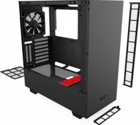 Carcasa NZXT H510i Matte Middle Tower ATX fara sursa Black/Red Carcase