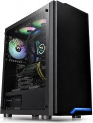 Carcasa Thermaltake H100 Tempered Glass SPCC Steel ATX Mid Tower Neagra Carcase