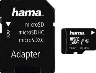 Card de Memorie Hama microSDXC 256GB Class 10 UHS-I + Adaptor Carduri Memorie