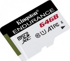 Card de Memorie Kingston High Endurance microSDXC 64GB CLASS 10 UHS-I Carduri Memorie