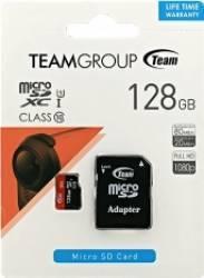 Card de Memorie Team Group microSDXC 128GB Clasa 10 + Adaptor SD Carduri Memorie