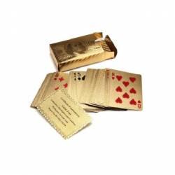 Carti de joc foita AUR 24K poker + certificat de autenticitate Jocuri de Societate