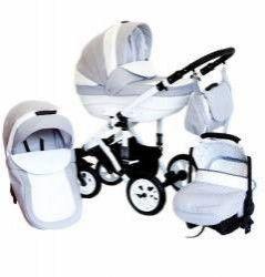 Carucior FLORENZ 3 in 1 - Pufinas - Gri+alb Carucioare copii