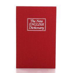 Caseta carte Booksafe rosu cheie