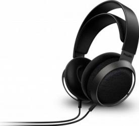 Casti audio Philips Fidelio X3/00, Hi-Res Audio, Neodim, 50mm, 100 dB, lungime cablu 3m, metal/piele, clema cablu, negru Casti