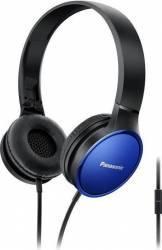Casti PANASONIC RP-HF300ME-K, Cu Fir, On-Ear, Microfon, Albastru Casti