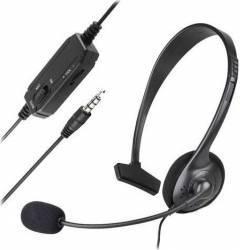 Casti Dobe cu microfon pentru Xbox One S PC PlayStation PS4 Slim Pro Negru