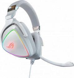 Casti Gaming ASUS ROG Delta White RGB AURA Sync 7.1 surround USB