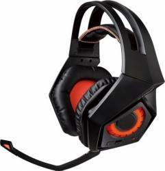 Casti gaming wireless ASUS ROG Strix Wireless, sunet surround virtual 7.1, difuzoare 60mm, compatibile multiplatforma, 3.5mm2.4GHz pliabile Casti Gaming