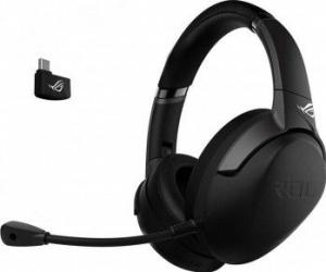 Casti Gaming ASUS ROG Strix GO 2.4 conectivitate wireless 2.4 GHz prin adaptor USB-C microfon cu anularea zgomotului PC Mac Nintendo Switch Casti Gaming