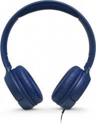 Casti audio On-ear JBL Tune 500, Pure Bass Sound, Hands-free Call Albastru Casti