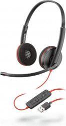 Casti cu microfon Call Center Plantronics Blackwire C3220, USB, Binaural Black Casti