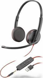Casti Plantronics Blackwire C3225 Negre USB3.5 mm jack Casti