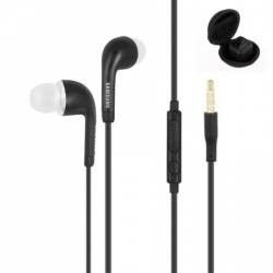 Casti Samsung originale hands-free cu volum control si microfon pentru telefon Samsung conector 3.5 mm Jack negru EHS64A