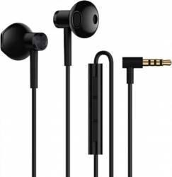Casti in-ear Xiaomi Dual Driver Half in ear cu microfon control apel 1.2m Black Casti telefoane mobile