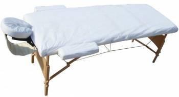 Cearsaf pentru mese de masaj - alb Accesorii fitness