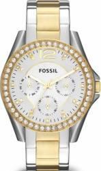Ceas de Dama Fossil Riley Multifunction ES3204P Argintiu Auriu