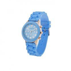Ceas Geneva Dama Quartz Casual Elegant Bleu PN999201BU curea din silicon afisaj Analog